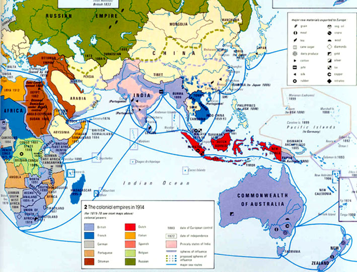 Map Of Asia 1914.Maps