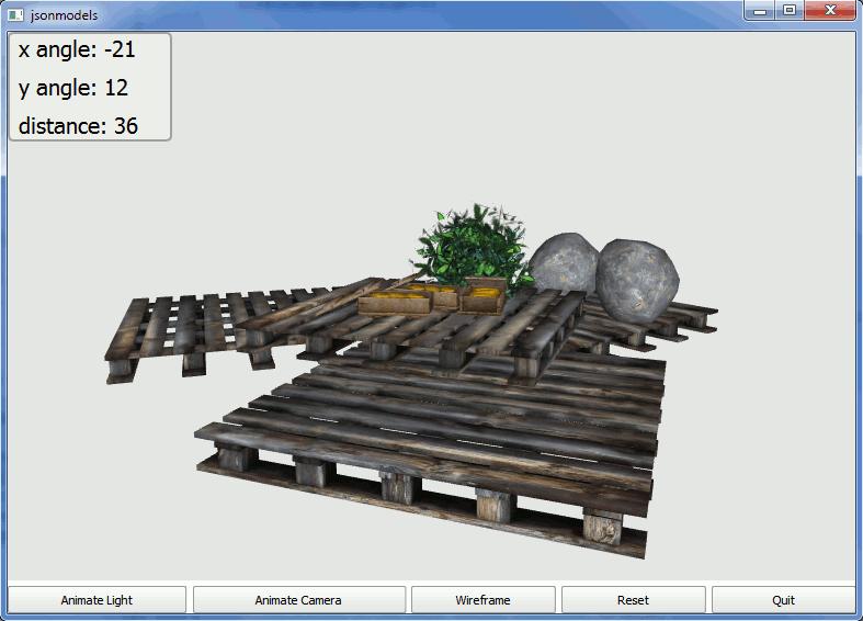 JSON Models Example   Qt Canvas 3D 5 7
