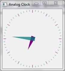 Analog Clock Example | Qt Widgets 5 7