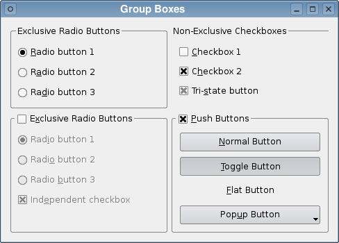 Group Box Example   Qt Widgets 5 7