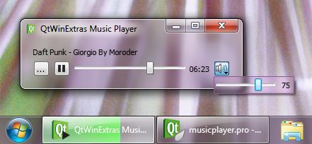 Music Player | Qt Windows Extras 5 7