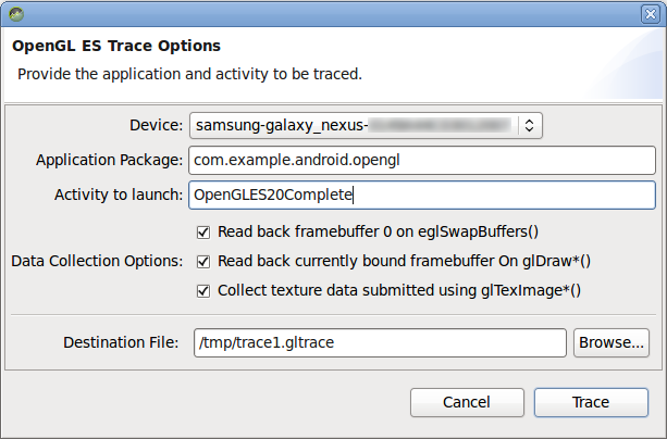 Tracer for OpenGL ES | Android Developers