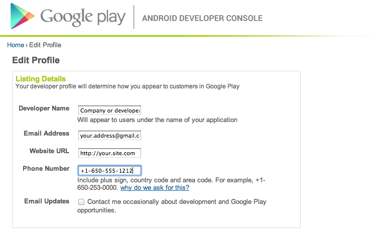 The Developer Console | Android Developers