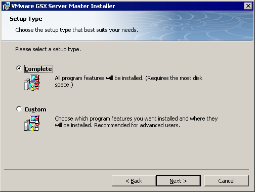 Installing the GSX Server Software on a Windows Host