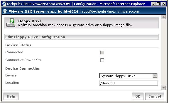 Configuring Virtual Floppy Drives