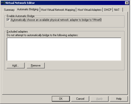 Configuring Bridged Networking Options on a Windows Host