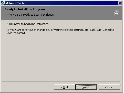 Installing VMware Tools in a Windows Virtual Machine