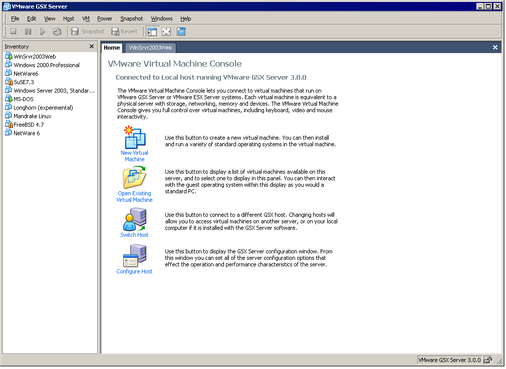 Overview of the VMware Virtual Machine Console Window