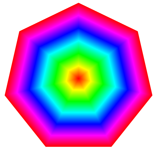 rainbow heptagon