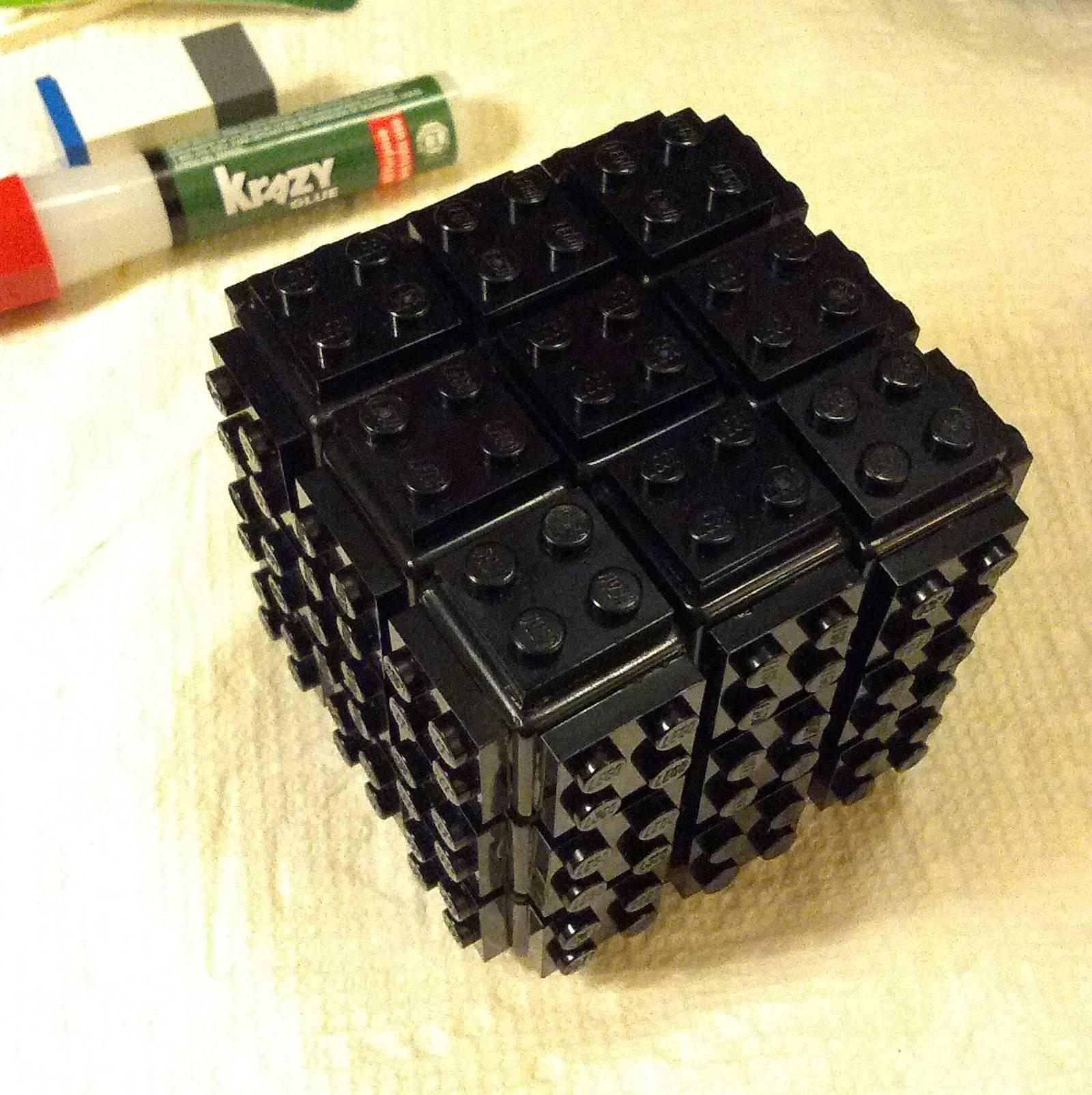 black lego cube